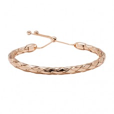 BRAIDED BANGLE WITH SLIDING CLASP