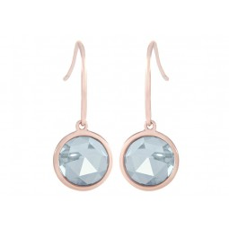 ESSENTIAL EARRINGS WITH FACETED NATURAL STONE