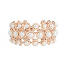 MULTICIRCLE LINK WITH BUTTON PEARLS BRACELET