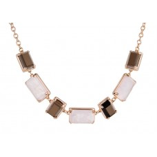 ALTERNATED BAGUETTE STONE NECKLACE