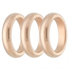 Set Of 3 Polished Rings