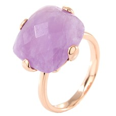 Faceted Cushion Stone Ring