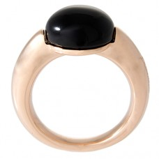 Round Cabochon Band Ring