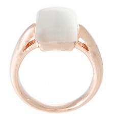 Squared Mother Of Pearl Band Ring