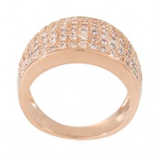 Cubic Zirconia Pavé Band Ring
